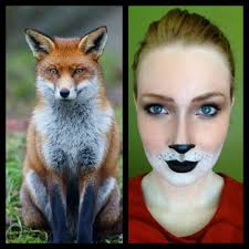 Halloween Animal Makeup Fox Halloween Makeup Halloween Makeup Foxes And Costumes