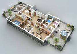 Apartment Designs Shown With Rendered D Floor Plans - Apartment building design plans