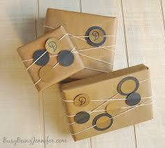 kraft christmas wrapping paper gift wrapping with kraft paper busy being