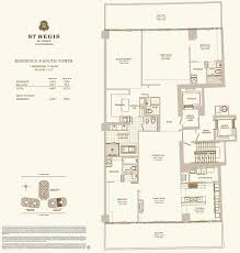 Midtown Residences Floor Plan by St Regis Bal Harbour Condo Hotel One Sotheby U0027s International Realty