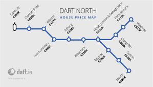 Dart Rail Map The Daft Ie Dart U0026 Luas House Price Map By Stop Daft Insights