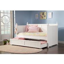 White Trundle Daybed Coaster Daybed With Trundle White Walmart