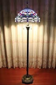 Tiffany Floor Lamp Shades Blue Floor Lamp Lake Blue Tiffany Style Dragonfly Floor Lamp