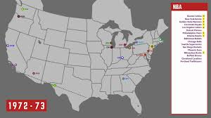 Nba Usa Map by History Map Of The Nba 1946 2015 Youtube