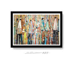african print home decor our colorful people watercolor print african american art wall