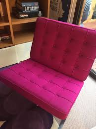 Pink Leather Chair barcelona chair pink wool contemporary chair contemporary