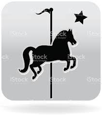 royalty free carousel horse silhouette icon stock vector art