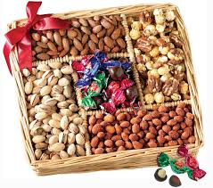 broadway basketeers gourmet sweet and savory nut gift basket for