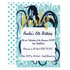ocean theme party invitations u0026 announcements zazzle