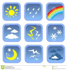 Weather Map Symbols Weather Symbols Set Stock Photos Image 13422703