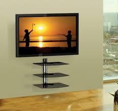 glass shelf tv wall mount