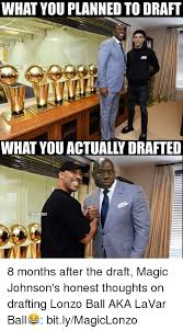 Magic Johnson Meme - what you planned to draft what you actually drafted nbamemes 8