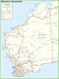 Printable Map Of New York City by Large Detailed Map Of Western Australia With Cities And Towns