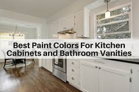 best wall color with oak kitchen cabinets best paint colors for kitchen cabinets and bathroom vanities
