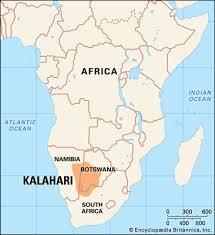 africa map kalahari desert kalahari desert map facts britannica