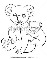 koala bear coloring page paw print lions coloring pages stock vector 322745780 shutterstock