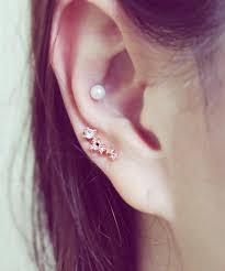earring helix 16g cz studded barbell ear piercing stud cartilage earrings