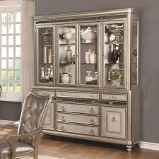 Coaster Curio Cabinet Coaster Danette Server And China Cabinet With Led Lighting Value