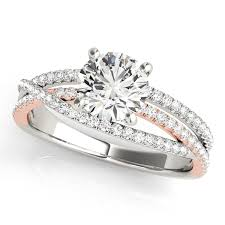unique engagement rings for women split shank diamond engagement ring with crossband