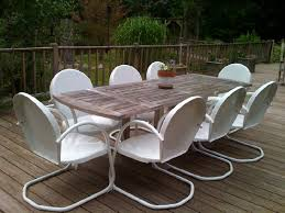 creative of vintage metal patio table and chairs retro for furniture