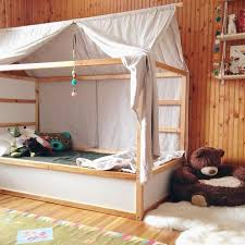 Ikea Canopy Bed Toddler Bed For Boo We Hacked An Ikea Kura Bed Found On