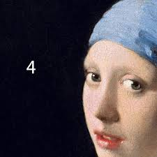 earring girl vermeer girl with a pearl earring colourlex