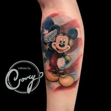 mickey mouse military tattoo by cory claussen tattoos