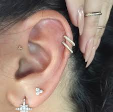 cartilage earing jewels piercing piercing fancy goldd diamonds gold
