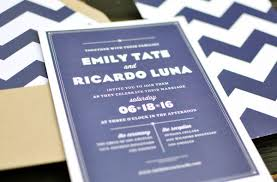 wedding invitations navy modern navy chevron wedding invites invitation crush