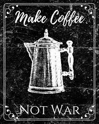 Coffee War free vintage chalkboard printable wall bumble bits