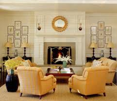 perfect symmetrical indoor fireplace decorating ideas