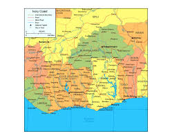 Ivory Coast Map Maps Of Cote D U0027ivoire Detailed Map Of Cote D U0027ivoire In English