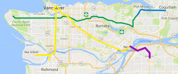 vancouver skytrain map millennium line evergreen extension completed page 450