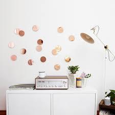 umbra confetti dots wall decor copper flamingo gifts umbra confetti dots wall decor copper