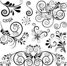 Ornament Patterns Free Black Floral Ornament Pattern Vector Free Vector In Encapsulated