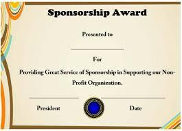 12 elegant certificates of appreciation for sponsorship free