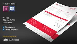 free invoice u0026 quote template word indesign abdulla hussain