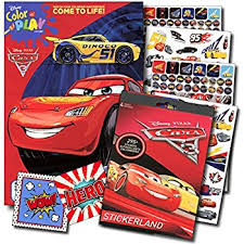 amazon disney pixar cars coloring book stickers