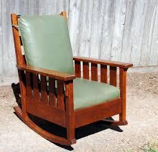 Mission Oak Rocking Chair Voorhees Craftsman Mission Oak Furniture Gustav Stickley Large