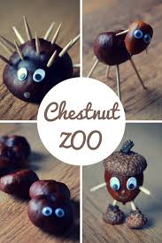 chestnut zoo fall craft with kids zoos craft and autumn