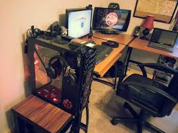 l desks for gaming good shaped best desk setup home interior