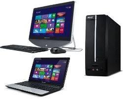 ordinateur de bureau ou portable accueil