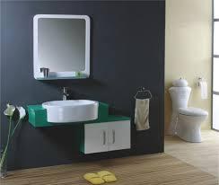 cream wall paint mirror black small vanity storage drawers white