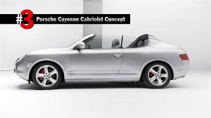 cayman porsche convertible did you know porsche built a cayenne cabriolet as a concept