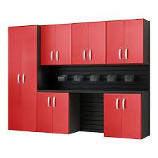 Rubbermaid Fasttrack Closet Rubbermaid Fasttrack Garage Laminate 7 Piece Cabinet Set With