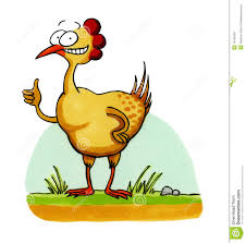 smiling chicken funny cartoon royalty free stock image image