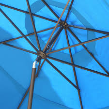 Tilting Patio Umbrella by 11 Ft Tilting Patio Umbrella With Pacific Blue Canopy Shade