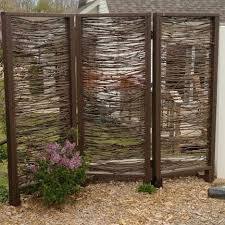 Privacy Walls For Patios by Outdoor Privacy Panels Home Natural 4 Panel Yard Privacy Screens
