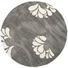 Grey Round Rug Safavieh Florida Shag Dark Grey Beige Floral Round Rug 6 U0027 7