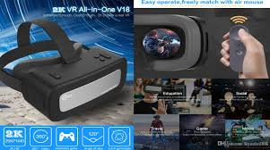 Video One 3d Caraok V18 3d Vr Headset All In One Virtual Reality Video Glasses